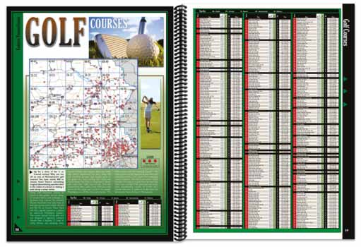 Pennsylvania All-Outdoors Atlas golfing pages