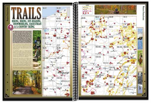 Pennsylvania All-Outdoors Atlas trail pages