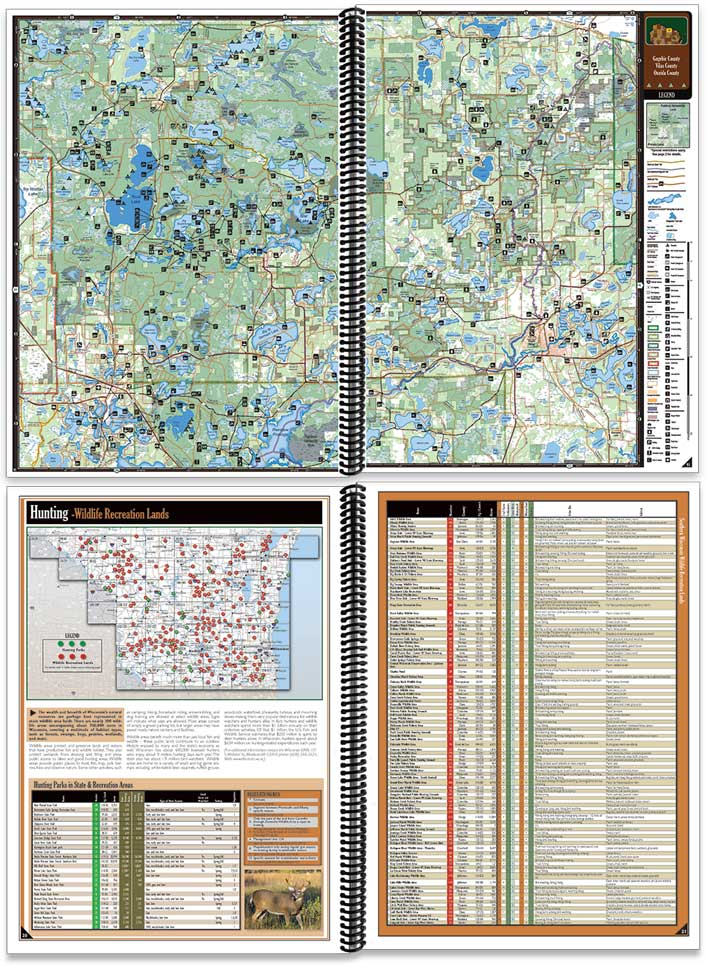 Wisconsin All-Outdoors Atlas sample pages