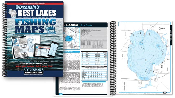Wisconsin Best Lakes Fishing Map Guide