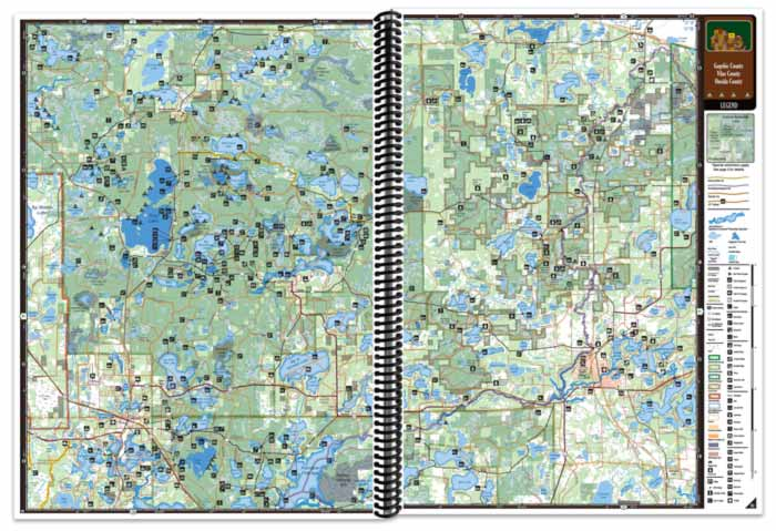Wisconsin All-Outdoors Atlas map pages