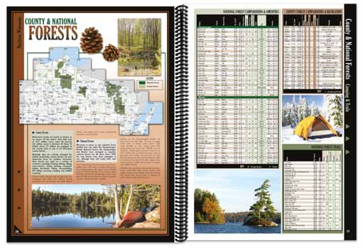 Wisconsin All-Outdoors Atlas forest pages