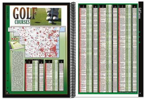 Wisconsin All-Outdoors Atlas golfing pages
