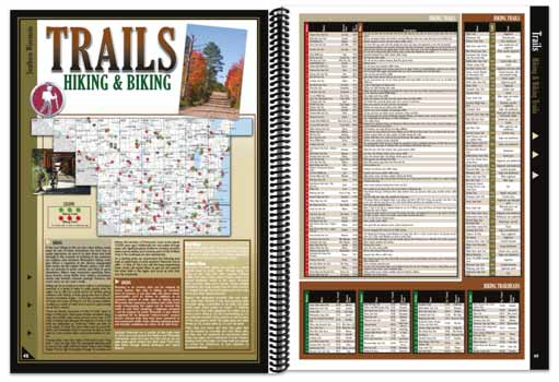 Wisconsin All-Outdoors Atlas trail pages