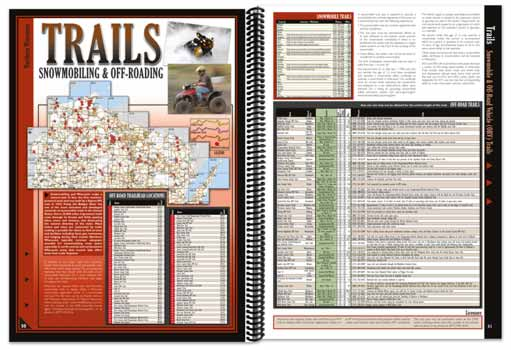 Wisconsin All-Outdoors Atlas off-road trail pages