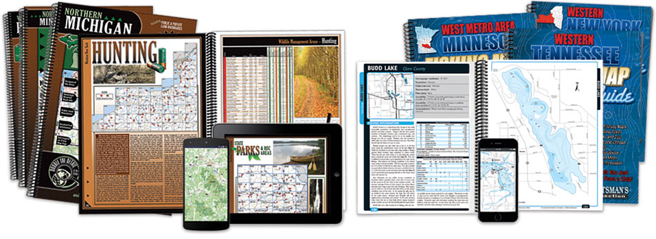 Sportsman's Connection Fishing Map Guides and All-Outdoors Atlases