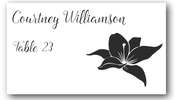 Place Cards - Hybiscus - CorkeyCreations.com