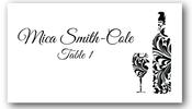 Place Cards - Swirl Bottle & Glass - CorkeyCreations.com