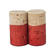 Hand Dyed - Light Red - Wine Cork Place Card Holders - Double Vertical Corkey Creations