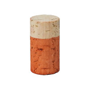 Hand Dyed - Light Orange - Wine Cork Place Card Holders - Double Vertical Corkey Creations