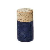 Hand Dyed - Blue - Wine Cork Place Card Holders - Double Vertical Corkey Creations