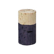 Hand Dyed - Dark Purple - Wine Cork Place Card Holders - Double Vertical Corkey Creations