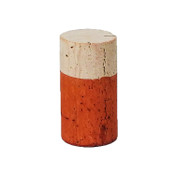 Hand Dyed - Orange - Wine Cork Place Card Holders - Double Vertical Corkey Creations