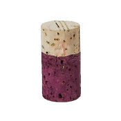 Hand Dyed - Plum - Wine Cork Place Card Holders - Double Vertical Corkey Creations