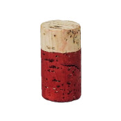 Hand Dyed - Red - Wine Cork Place Card Holders - Double Vertical Corkey Creations