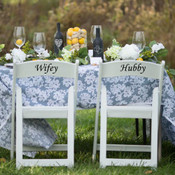 Wifey Hubby Chair Back Vinyl Decor - CorkeyCreations.com