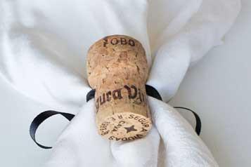 Champagne Cork Napkin Rings - CorkeyCreations.com