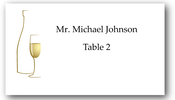 Place Cards - Champagne - CorkeyCreations.com