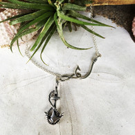 Infinity Hooked on Hope Necklace, sterling silver