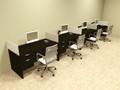 Four Person Divider MOdern Office Workstation Desk Set, #OT-SUL-SP32
