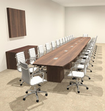 Modern Boat Shaped Cube Leg Feet Conference Table OFCONCQ - 30 conference table