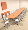 Modern Boat Shaped Steel Leg 30' Feet Conference Table, #OF-CON-CM97
