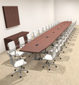 Modern Boat Shaped Steel Leg 30' Feet Conference Table, #OF-CON-CM99