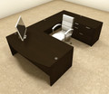 4pc U Shaped Modern Executive Office Desk, #OT-SUL-U8