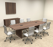 Modern Boat Shapedd Feet Conference Table OFCONC - 10 foot conference table