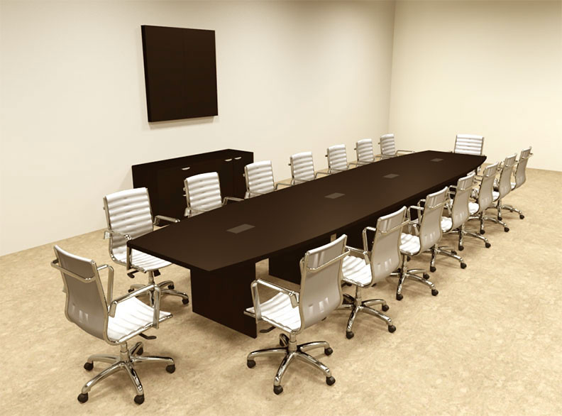 Modern Boat Shapedd Feet Conference Table OFCONC - 20 foot conference table