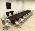 Modern Boat Shapedd 22' Feet Conference Table, #OF-CON-C90