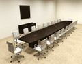 Modern Boat Shapedd 24' Feet Conference Table, #OF-CON-C95
