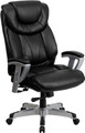 Big & Tall 400 lb. Capacity Big & Tall Black Leather Office Chair with Arms , #FF-0290-14
