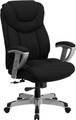 Big & Tall 400 lb. Capacity Big & Tall Black Fabric Office Chair with Arms , #FF-0291-14