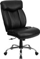 Big & Tall 350 lb. Capacity Big & Tall Black Leather Office Chair , #FF-0298-14