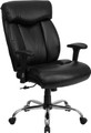 Big & Tall 350 lb. Capacity Big & Tall Black Leather Office Chair with Arms , #FF-0299-14