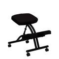 Mobile Ergonomic Kneeling Chair in Black Fabric , #FF-0429-14