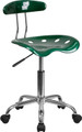 Vibrant Green and Chrome Computer Task Chair with Tractor Seat , #FF-0405-14