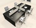 Four Persons Modern Office Divider Workstation Desk Set, #CH-AMB-FP33