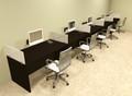 Five Person Divider Modern Office Workstation Desk Set, #OT-SUL-SP16