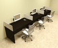 Three Person Divider Modern Office Workstation Desk Set, #OT-SUL-SP8