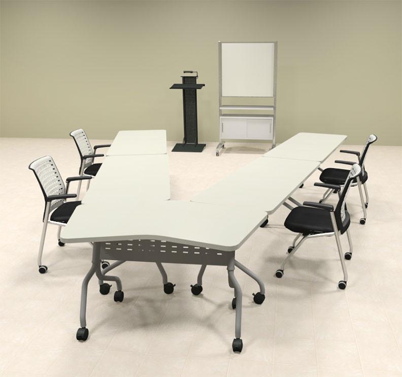 Image 1 & 5pcs V Shape Training / Conference Table Set #MT-SYN-LT19 ...