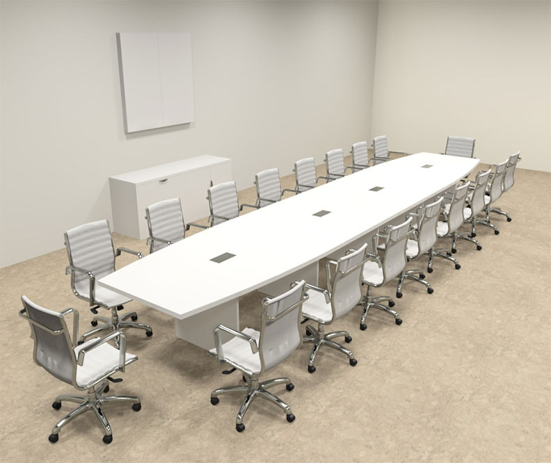 Modern Boat Shaped Feet Conference Table OFCONC - 20 foot conference table