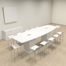 Boat Shape Counter Height Feet Conference Table OFCONCT - 12 foot conference table