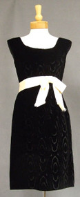 Pattullo Jo Copeland Panne Velvet & Cream Satin 1960's Cocktail Dress & Jacket