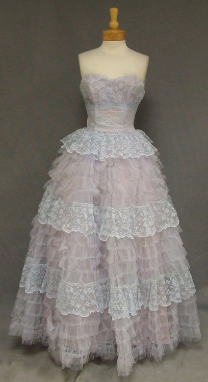 1950s Ball Gown Prom Dress Full Skirt Image 1
