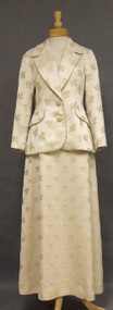 Lovely Lilli Ann Cream Damask 1960's Evening Suit