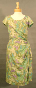 Frank Starr Floral Silk Sarong Cocktail Dress 43