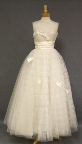 Ethereal Ivory Tulle & Taffeta Ball Gown w/ Appliques