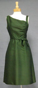 CHIC Shannon Rodgers Avocado Silk 1960's Cocktail Dress